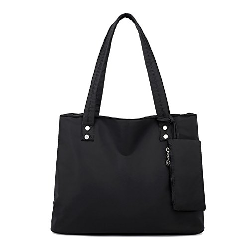 (Mfeo Womens Interlayer Soft Nylon Handbag Shoppingbag Bag Tote)