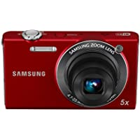 Samsung EC-SH100 Wi-Fi Digital Camera with 14.2 MP, 5x Optical Zoom and Touchscreen (Red) Noticeable Review Image