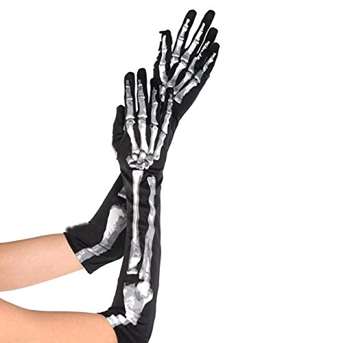 Long Skeleton Gloves Costume Accessory - Skeleton Bone Gloves
