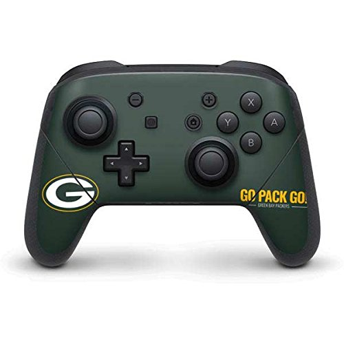 Green Bay Packers Nintendo Switch Pro Controller Skin - Green Bay Packers Team Motto | NFL X Skinit Skin
