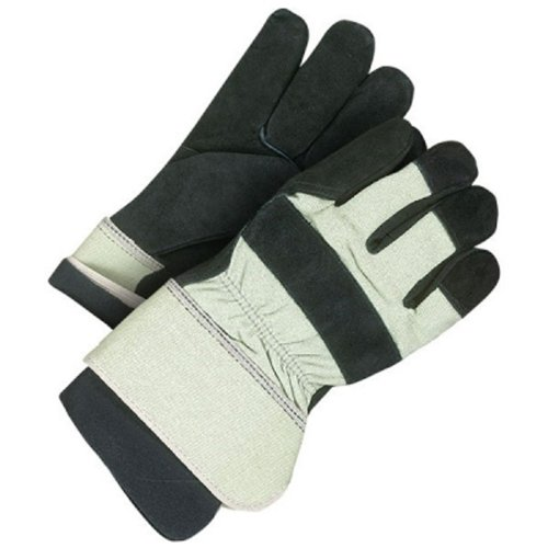 - Bob Dale 30-9-1020-XL Premium Split Leather Fitter Glove with Pull Out Polar Fleece Liner, X-Large, Black