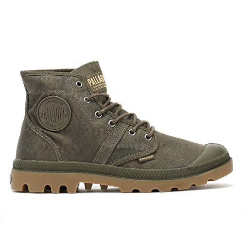 Stivali Wax Gum Mid Arricciati Palladium Pallabrouse Unisex Major Adulto Bgy Brown SqxwtEPwO