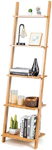 Tangkula 5-Tier Ladder Shelf Bookshelf