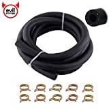 """EVIL ENERGY 4an 1/4"""" Polyester Reinforced NBR Vacuum Tubing Hose Fuel Line Kit 1/2"""" Hose Clamp 10 Pcs 6Ft (700 PSI Max -40℉ to +240℉)"""