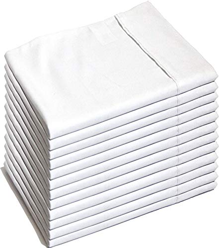 Glarea Pillow Cases 24 Pack (Queen White) - Brushed Microfiber Bulk Pillowcases - Pillow Covers for Allergy Control