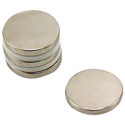 first3magnets F406-35 4 - Imán de neodimio (4 unidades, 20 x 3 mm, N35, 3,6 kg de fuerza de sujeción)