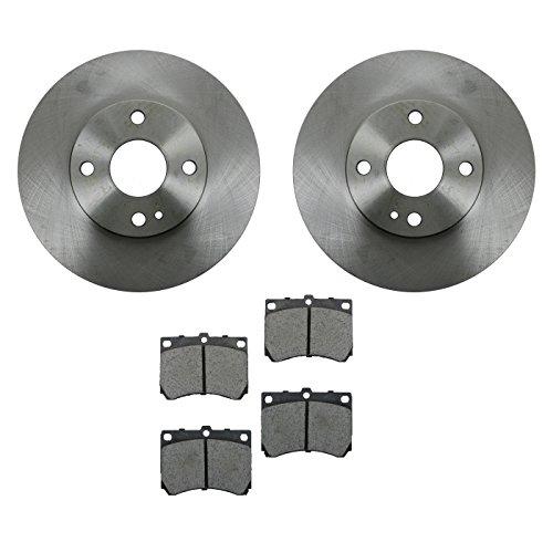 Ford Escort Brake Pads (Brake Pad & Rotor Kit Ceramic Front for Escort MX-3 MX3 Protege Tracer)
