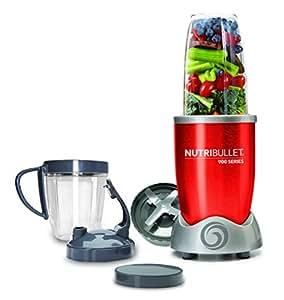 NutriBullet NB9-0928-R - Extractor de nutrientes original con recetario en Español, 900 W, 25.000 rpm, color rojo