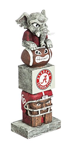 Team Sports America NCAA Alabama Crimson Tide Tiki Totem
