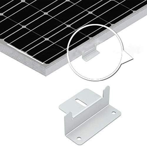 Auecor Solarpanel-Set, Z-Montagehalterungen: 4 Solar-Halterungen mit Muttern und Schrauben, für Wohnmobil, Boot, Dach, Wand