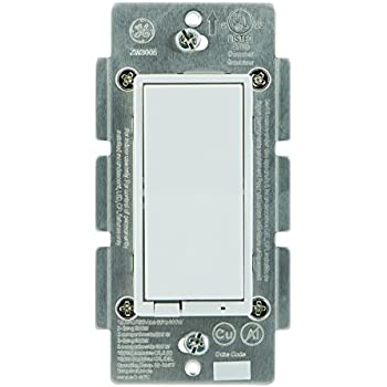 New Model : GE Z-Wave Plus Wireless Smart Lighting Control Smart Dimmer Switch, In-Wall, Includes White & Light Almond Paddles, Works with Amazon Alexa, 14294