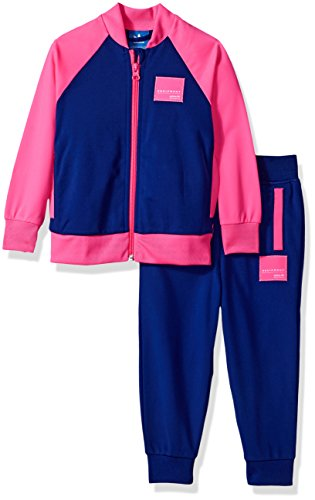 adidas Originals Infant Sets | Baby Girls EQT Sweatshirt and Pants, Top: Mystery Ink/Solar Pink Bottom: Ink Solar, - Adidas Originals Zipper