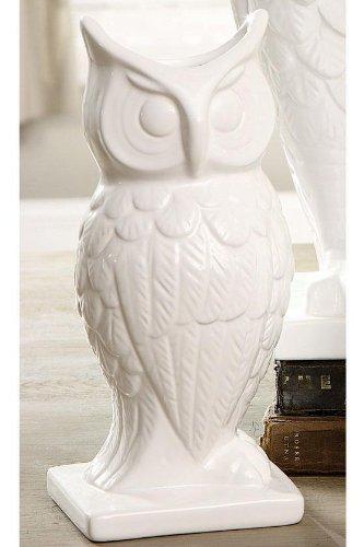 Amazon Owl Vase Small White Home Kitchen