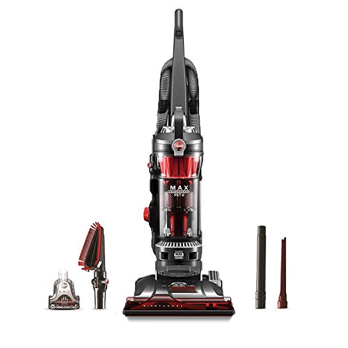 Hoover WindTunnel 3 Max Performance Upright Vacuum Cleaner, Powerful Suction for Pet Hair, UH72625, Red ()