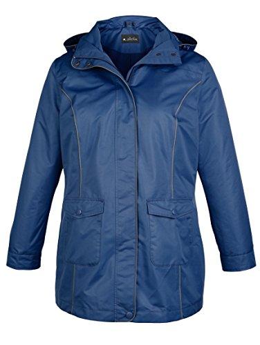M Collection Damen 2-in-1 Funktionsjacke mit Herausnehmbarer Fleecejacke Blau RZgNXGG