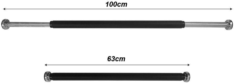 SportVida HK0003 con imbottitura in gommapiuma per trazioni senza viti sbarra telescopica per telaio della porta