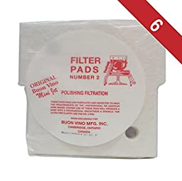 Buon Vino Mini-Jet Filter Pads #2-Pack of 6