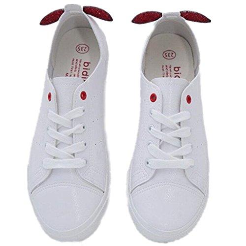 RED Colores Estudiantes Estudiantes 37 Movimiento Decoración Ocio pequeña Shoes Red Lady Verano Clásico Cómodo XIE 36 Dos 8ZU7qx