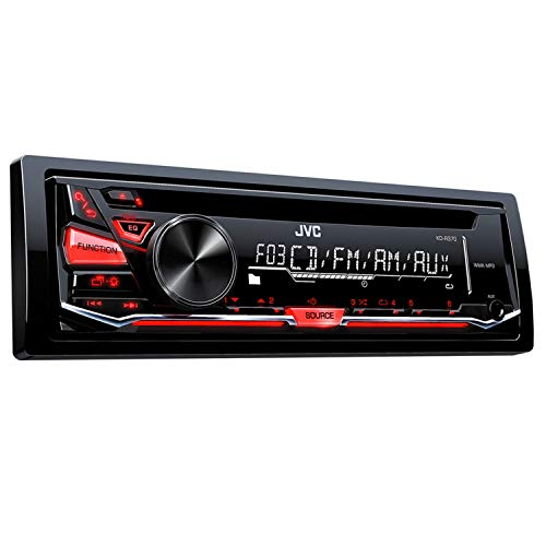 4 Speakers 350 Watts 6 Inches JVC KD-R370 Single Din in-Dash CD//Am//FM//Car Stereo W//Detachable Faceplate