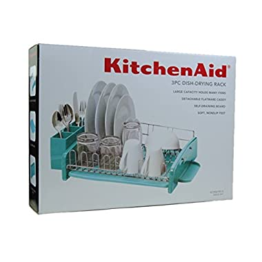 KitchenAid 3PC Dish-Drying Rack Large Capacity Aqua Sky