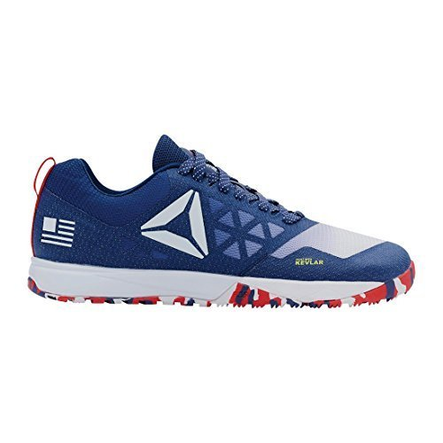 Reebok Womens CrossFit Nano 6.0 Blue Ink-White-Riot Red-Navy Athletic Shoes M