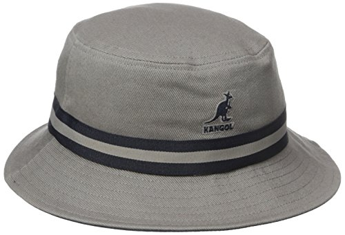 Center Stripe Cap - Kangol Men's Stripe Lahinch, Grey, Small