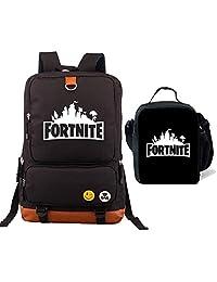 Kids Fortnite Backpack Lunch Box Bookbag for School Travel