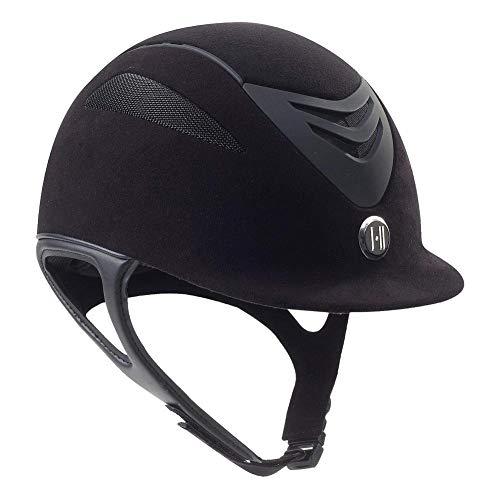 One K Unisex Defender Suede Protective Riding Helmet, Black Matte, Large ()