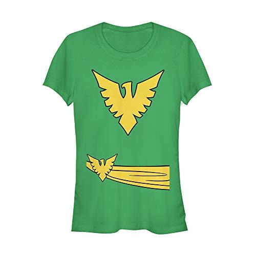 Marvel Juniors' Halloween X- Men Phoenix Costume Kelly Green T-Shirt]()