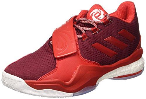 adidas Herren D Rose Englewood Boost Basketballschuhe Multicolore (Cburgu/Rayred/Ftwwht)