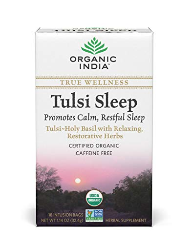 Original Tulsi Tea - Organic India Tulsi Wellness Sleep Tea, 18 Tea bags