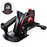 ANCHEER Jr. – Elliptical Trainer with Built-in Display Monitor & Adjustable Resistance, Under-Desk Elliptical Quiet & Compact for Home Office Cardio Training – Easy to Assemble Pedal Exerciser