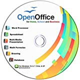 Open Office Suite CD for Home Student Professionals and Business, Compatible with Microsoft Office for Windows 10 8 7 powered by Apache OpenOfficeTM