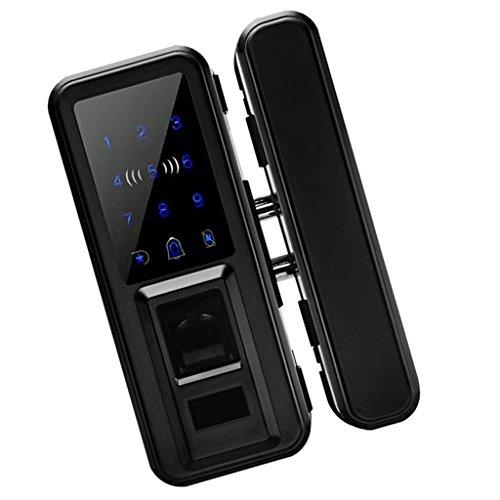 Fityle 500 Group Keyless Lock Touchscreen Deadbolt Lock Anti Peep, Keyless Lock Smart Code Door Lock Keypad Card Smart Digital Keyless Security - Black by Fityle (Image #6)
