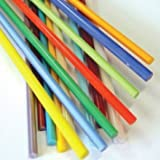 School Specialty Glass Rod Pack, 3/16 X 12 in, Assorted Color, Pack of 15