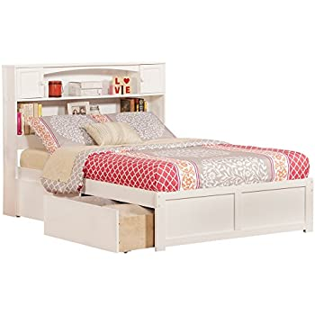 Newport Full Flat Panel Foot Board With 2 Urban Bed Drawers White