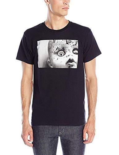 TammyRLewis Mens Cotton Moving Eyeball Digital Dudz Casual Cool T-Shirt,Black,XX-Large