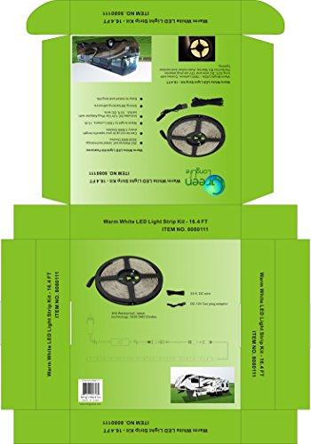 Green LongLife 8080111 16.4 Feet LED Light Strip Kit - Warm White by Green LongLife (Image #4)