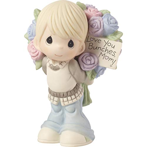 Precious Moments Love You Bunches Mom Boy Bisque Porcelain 183005 Figurine One Size Multi