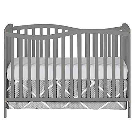Dream On Me Chelsea 5-in-1 Convertible Crib, Storm...