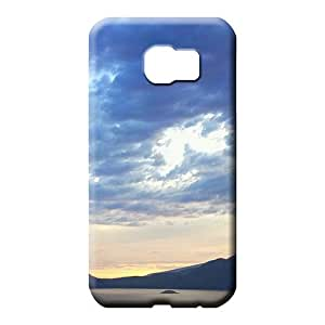 samsung galaxy s6 Strong Protect Top Quality Fashionable Design cell phone carrying cases sky blue air white cloud