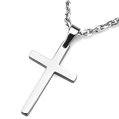 Sirius Jewelry Mens Fashion Gift Stainless Steel Cross Pendant Necklace
