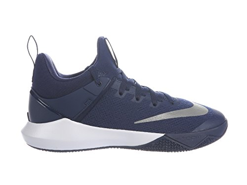 Nike Mens Zoom Shift Blu Scuro / Bianco Nylon Scarpe Da Basket 9.5 D (m) Noi