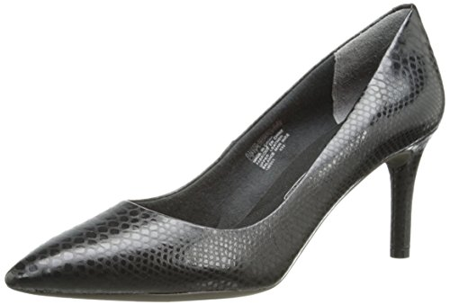 Rockport Women's Total Motion 75mm Pointy Toe Pump Nero Python 9.5 W (C)