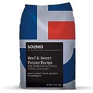 Amazon Brand - Solimo Ultra-Premium Dry Dog Food, No Added Grain, Beef & Sweet Potato Recipe. 5 lb. Bag