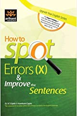 How to Spot Errors (X) & Improve the Sentences Paperback