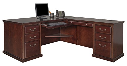 Contemporary Deluxe Computer Desk - Martin Huntington Club Right L-Shaped Desk