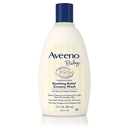 (Aveeno Baby Soothing Relief Creamy Wash with Natural Oatmeal for Dry, Sensitive Skin, 12 fl. oz (Pack of 2))