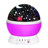 Star Night Light for Kids Boys Girls Baby, Ouwen Star Night Light Projector Lamp Presents Birthday Ideas Party Popular Gifts for 3-12 Year Old Boys Girls Toys Girls Boys Age 3-12 Purple OWUSNL02