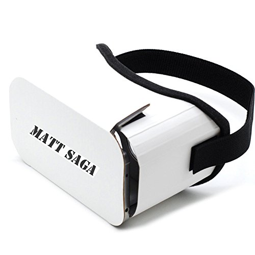 "Google Cardboard V2, MATT SAGA 2016 Newest Version 3D VR Headset DIY Glasses Virtual Reality BOX II Kit For All 4.7""-5.5"" Smartphones with IOS/Android for 3D Movies and Video Games"